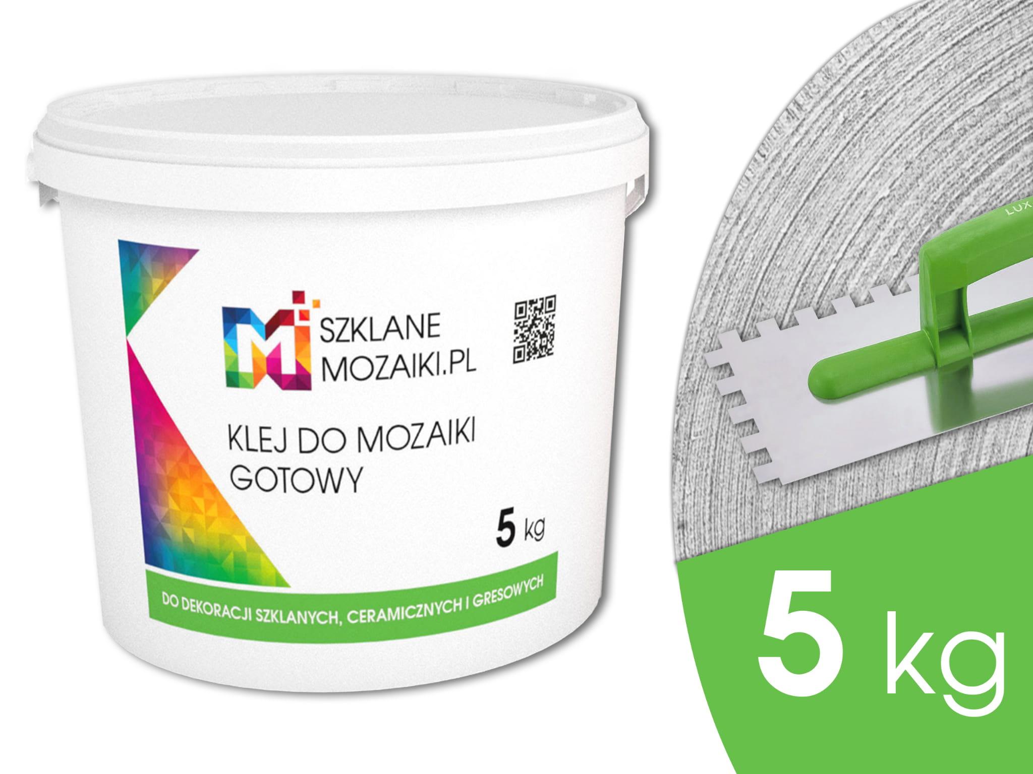 Klej Biały Elastyczny Gotowy 5kg Do Płytek Mozaik Szklanych I Innych